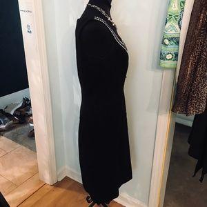 Tahari Dresses - Black Pearl Embellished Tahari Dress Size 6